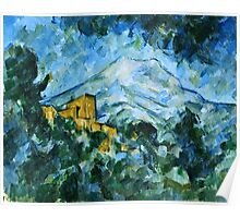 Paul Cezanne - Mont Sainte Victoire and Chateau Noir (1904 - 1906)  Poster