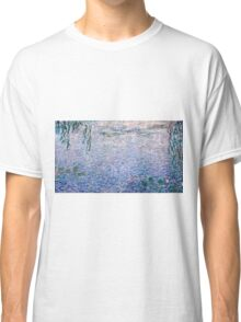 Claude Monet - The Water Lilies - Clear Morning with Willows (1915 - 1926)  Classic T-Shirt