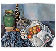 Paul Cezanne - Still Life with Apples (1893 - 1894)  Poster