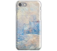 Claude Monet - The Entrance To Giverny Under The Snow iPhone Case/Skin