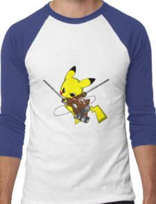 Shingeki No Pika! Men's Baseball ¾ T-Shirt