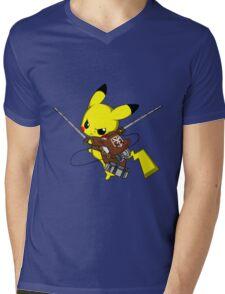 Shingeki No Pika! Mens V-Neck T-Shirt