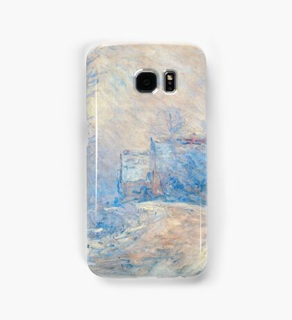 Claude Monet - The Entrance To Giverny Under The Snow  Samsung Galaxy Case/Skin