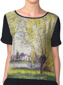Claude Monet - The Willows Chiffon Top