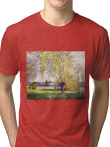 Claude Monet - The Willows Tri-blend T-Shirt