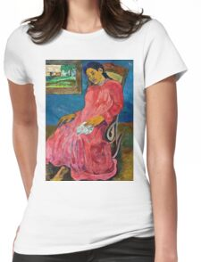 Paul Gauguin - Faaturuma (Melancholic) (1891)  Womens Fitted T-Shirt
