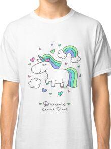 cute unicorns and rainbows Classic T-Shirt