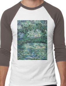 Claude Monet - The Japanese Bridge (1914 - 1917)  Men's Baseball ¾ T-Shirt