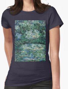 Claude Monet - The Japanese Bridge (1914 - 1917)  Womens Fitted T-Shirt