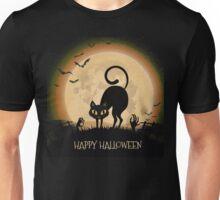 Happy Halloween Black Cat Unisex T-Shirt