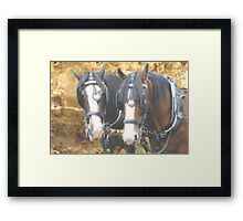 Towers of strength Framed Print