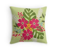 Bits of Summer Throw Pillow
