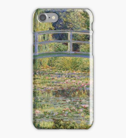 Claude Monet - The Japanese Bridge The Water Lily Pond 1899 iPhone Case/Skin