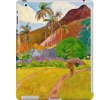 Paul Gauguin - Tahitian Landscape (1891)  iPad Case/Skin