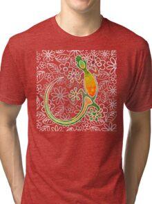 gecko flowers Tri-blend T-Shirt