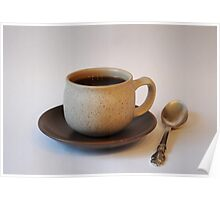Coffee Cup with a Spoon Poster