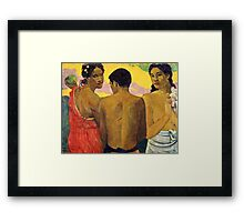 Paul Gauguin - Three Tahitians (1899)  Framed Print