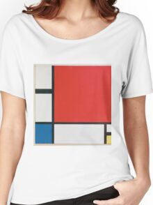 Piet Mondriaan - Mondrian Composition Ii In Red Blue And Yellow Women's Relaxed Fit T-Shirt