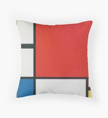 Piet Mondriaan - Mondrian Composition Ii In Red Blue And Yellow Throw Pillow