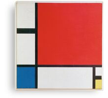 Piet Mondriaan - Mondrian Composition Ii In Red Blue And Yellow Canvas Print