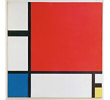 Piet Mondriaan - Mondrian Composition Ii In Red Blue And Yellow Photographic Print