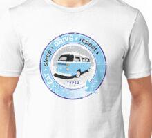 Eat Sleep Drive Repeat blue grey fan grunge Unisex T-Shirt