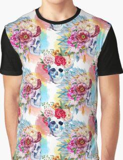 Watercolor ethnic skull Graphic T-Shirt