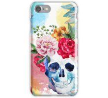 Watercolor ethnic skull iPhone Case/Skin