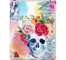 Watercolor ethnic skull iPad Case/Skin