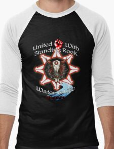 United With Standing Rock - Water is Life Men's Baseball ¾ T-Shirt