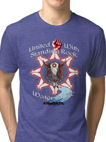 United With Standing Rock - Water is Life Tri-blend T-Shirt