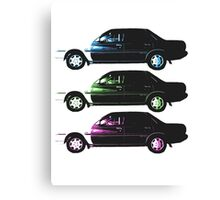 Auto-mobile x3 Canvas Print