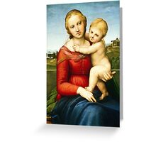Raphael - The Small Cowper Madonna ( 1505)  Greeting Card