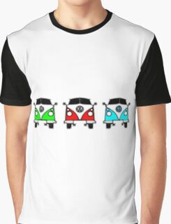 VW Camper Van Threesome Graphic T-Shirt