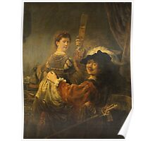 Rembrandt - Rembrandt And Saskia In The Scene Of The Prodigal Son Poster