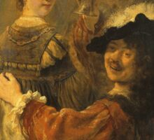Rembrandt - Rembrandt And Saskia In The Scene Of The Prodigal Son Sticker