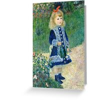 Renoir Auguste - A Girl with a Watering Can (1876)  Greeting Card