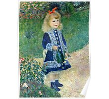 Renoir Auguste - A Girl with a Watering Can (1876)  Poster