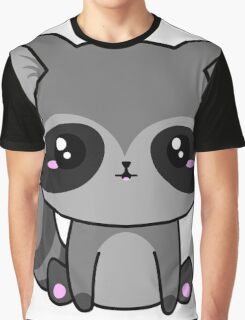Cute Raccoon Graphic T-Shirt