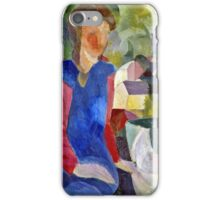 August Macke - Woman With Fishbowl  iPhone Case/Skin