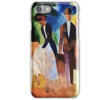 August Macke - People By The Blue Lake  iPhone Case/Skin