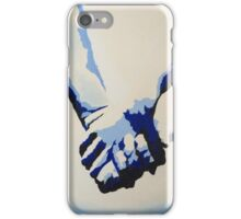Holding Hands - Blue iPhone Case/Skin