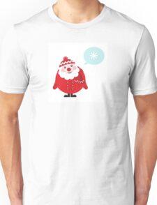 Cute vector cartoon Santa thinking Unisex T-Shirt