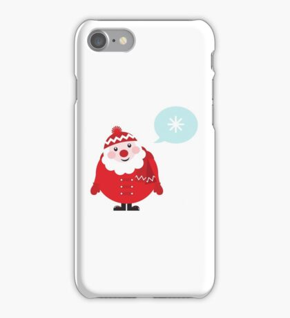 Cute vector cartoon Santa thinking iPhone Case/Skin