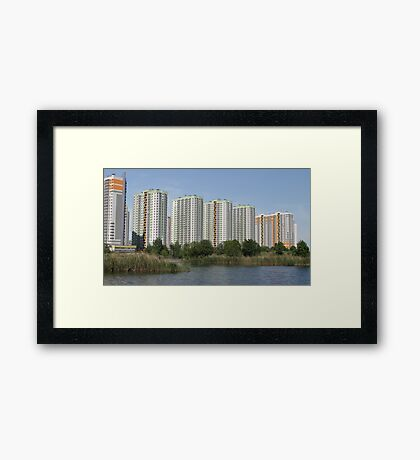 Modern highrise buildings Framed Print
