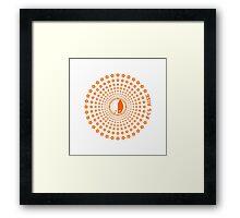 Sakura Rise (Orange) Framed Print