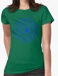 Sakura Rise (Blue) Womens Fitted T-Shirt