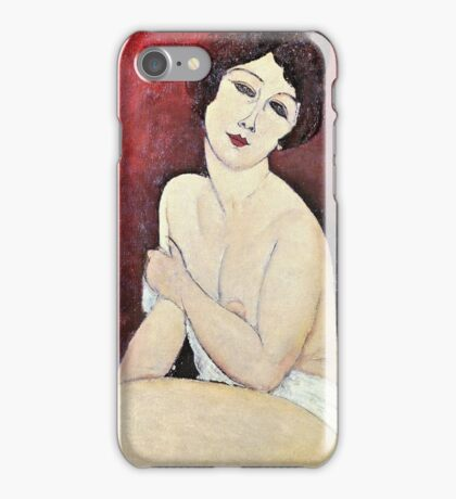 Amedeo Modigliani - Large Seated Nude  iPhone Case/Skin