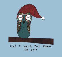Owl I Want for Xmas Is You Kids Clothes