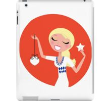 Retro blond cute Christmas Girl with decoration iPad Case/Skin